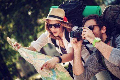 Turistas viajando