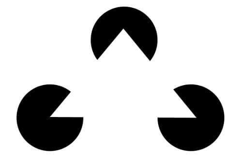 Triângulo dentro de 3 círculos