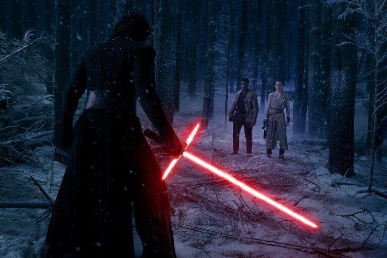 Cena de filme da saga Star Wars