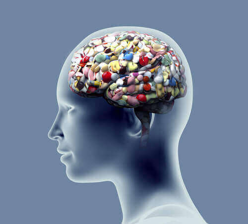 Medicamentos no cérebro humano