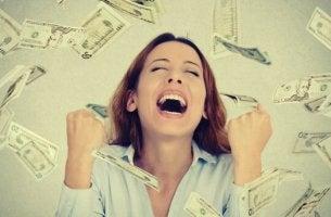Mulher que ganhou na loteria