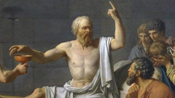 Sócrates com seus alunos