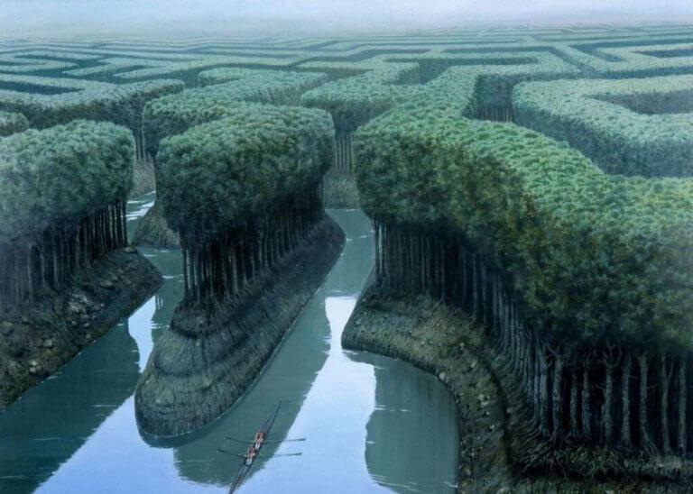 Floresta em forma de labirinto