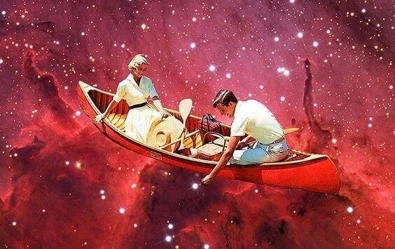 Casal em barco