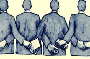 A corrupção começa com as pessoas anônimas