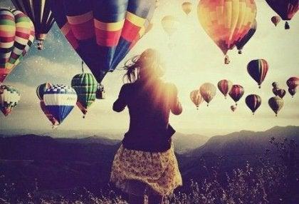 Céu cheio de balões