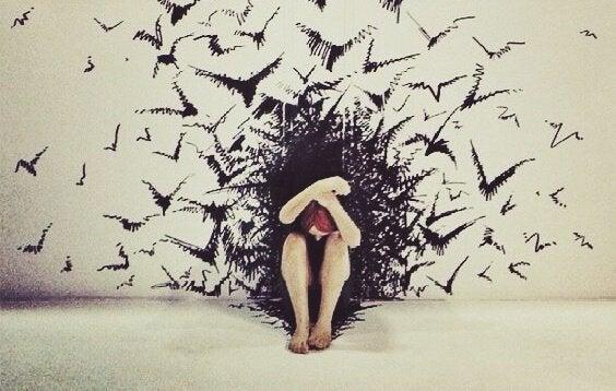 Mulher enfrentando seus medos