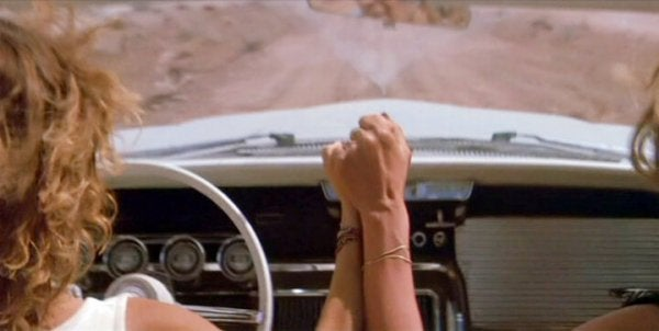 Cena do filme 'Thelma & Louise'
