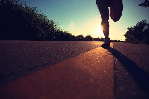 Pessoa correndo maratona