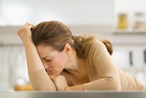 Dona de casa exausta