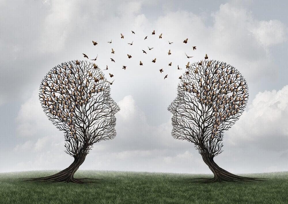 Árvores simbolizando comunicação