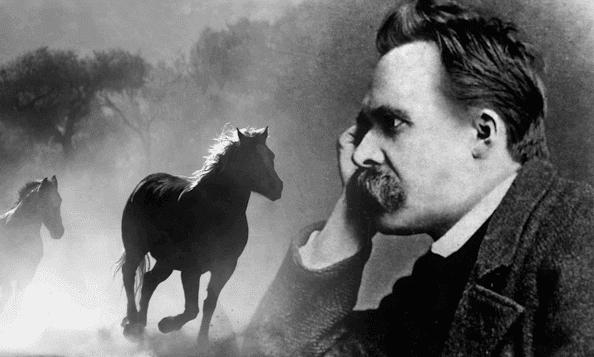 Nietzsche pensando em cavalos