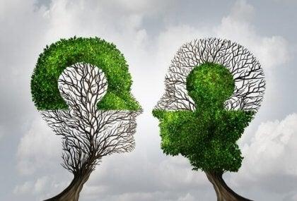 Árvores na forma de cabeças