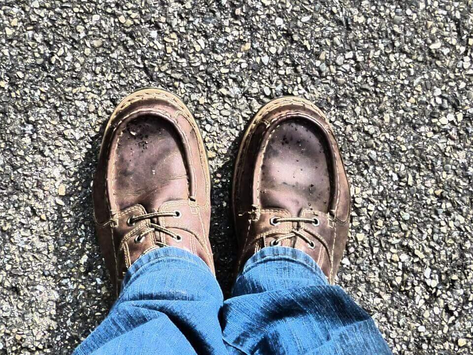 Sapatos gastos