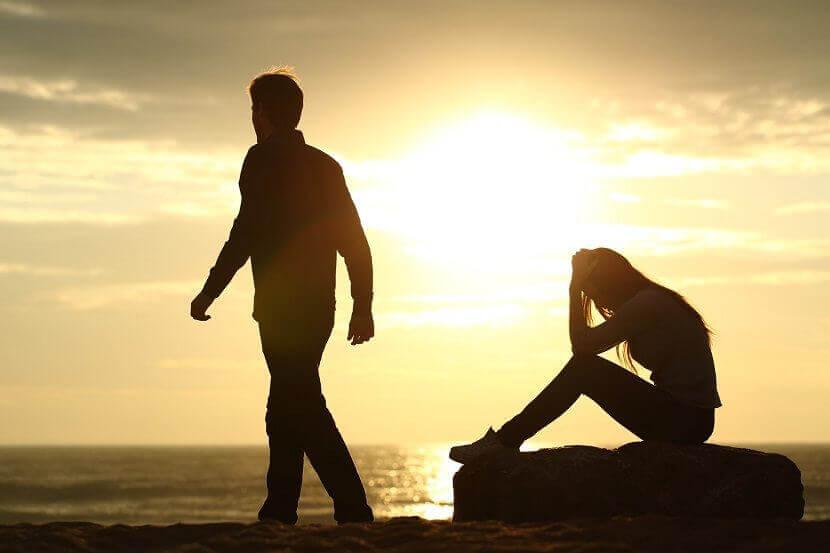 Casal terminando seu relacionamento
