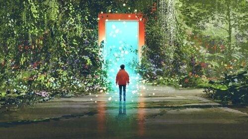 Porta para um mundo mágico