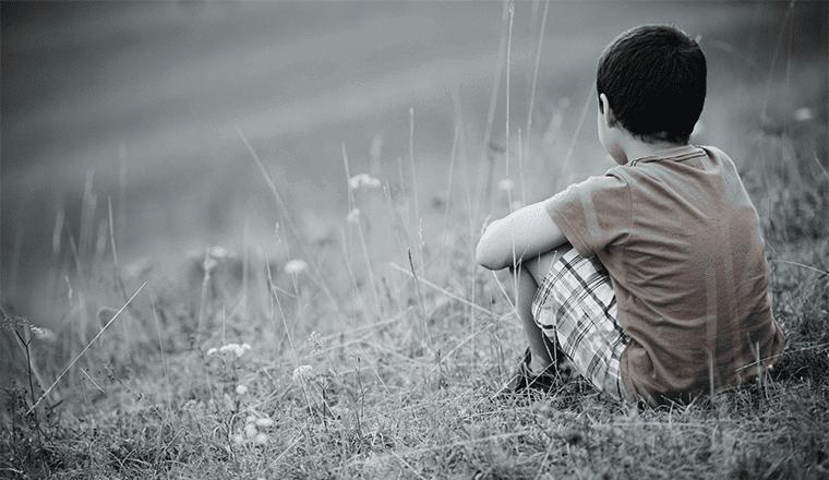 Criança com problemas na infância