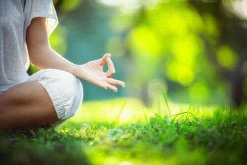 Meditar em meio à natureza