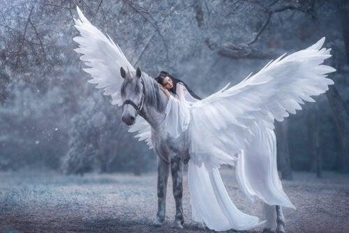 Mulher em cavalo encantado