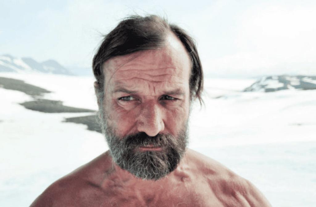 Wim Hof quebrando recordes no gelo