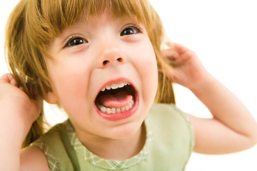 Criança estressada