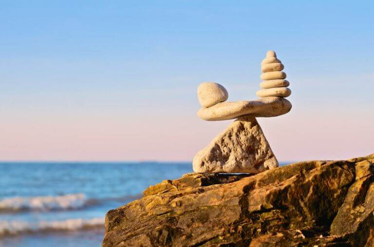 Pedras representando equilibrio
