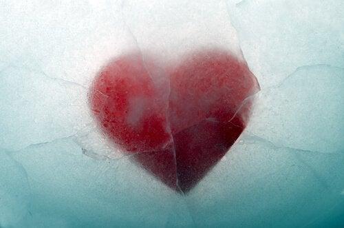 Coração coberto de gelo