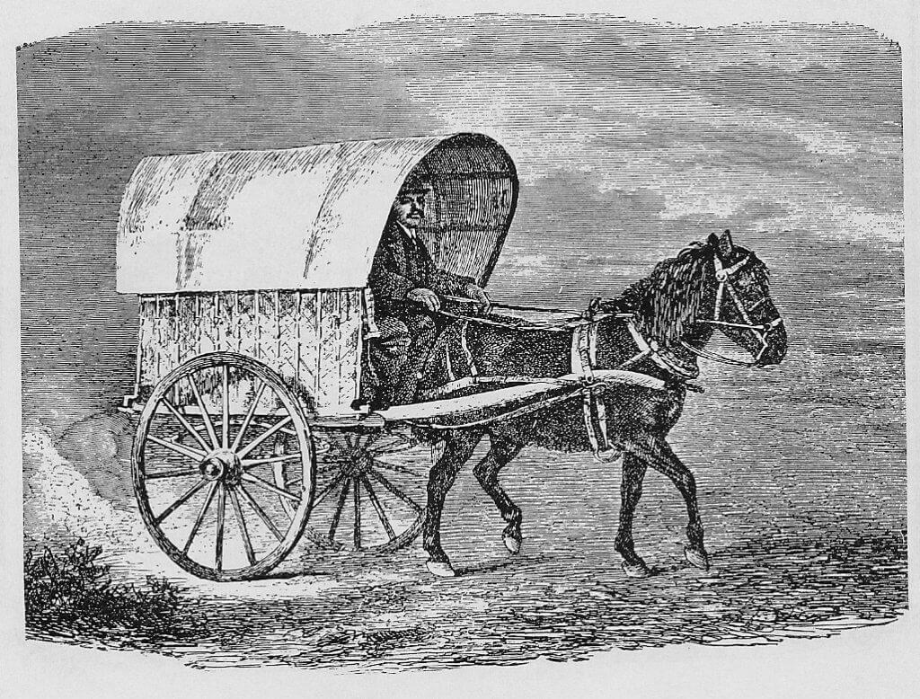 Ilustração antiga de mercante