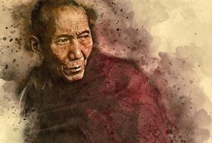 "A história oriental ""O Monge e o Mercante"""