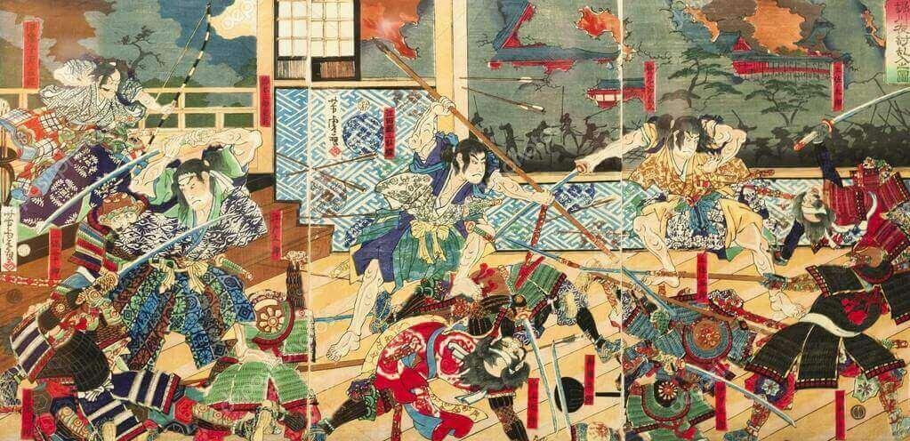 Batalha entre samurais