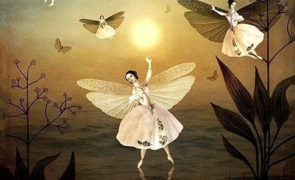 Bailarinas com asas