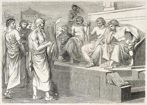Gregos conversando