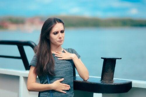 Mulher com fobia de água