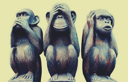 A metáfora dos três macacos e o bem viver