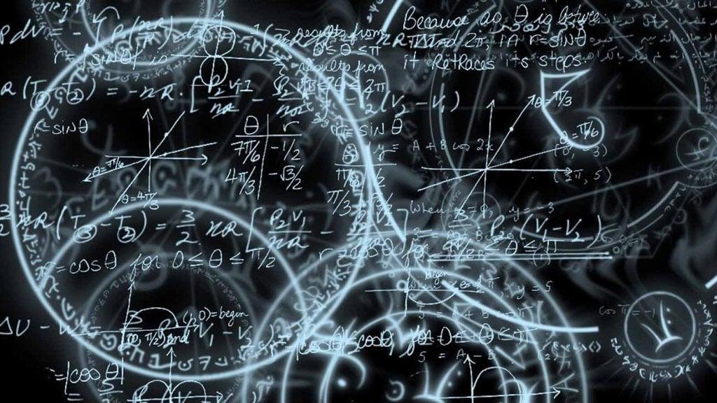 Cálculos e contas em uma lousa