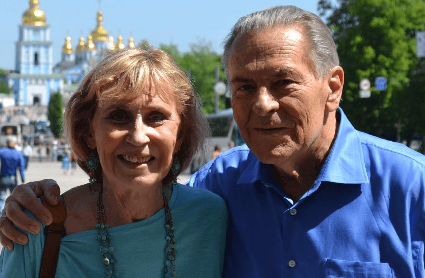 Christina Grof com o marido