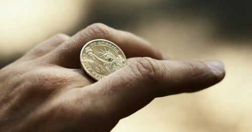 O experimento da moeda invisível