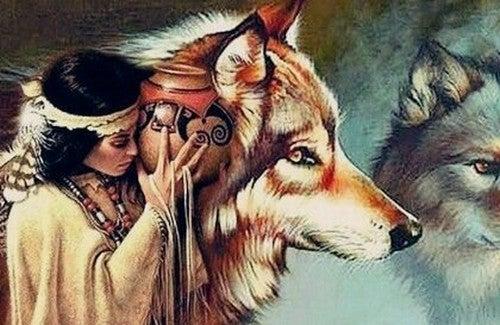 A mulher e os lobos, uma bela lenda Dakota