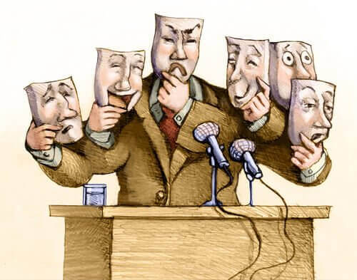 Político com muitas caras