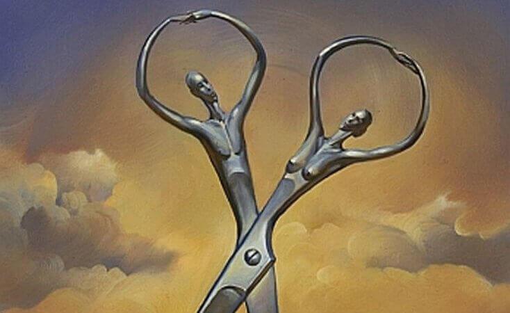 Estátuas em forma de tesoura