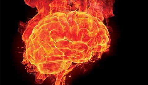 Cérebro pegando fogo