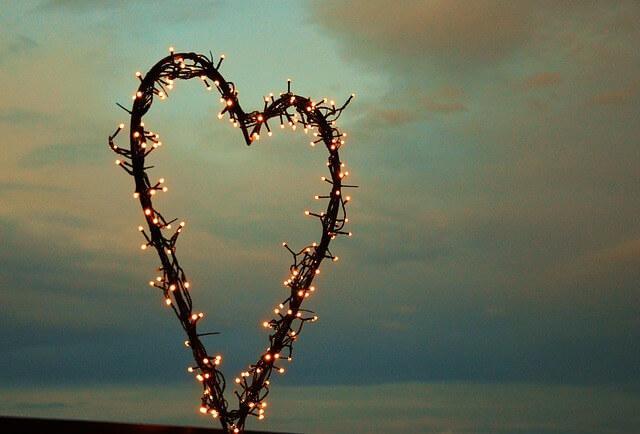 Coração de luzes