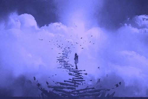 Escadaria nas nuvens