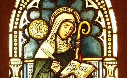 Vitral de Hildegard von Bingen