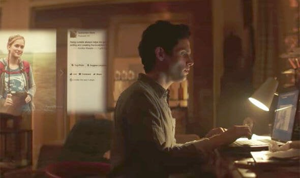 Joe em seu computador