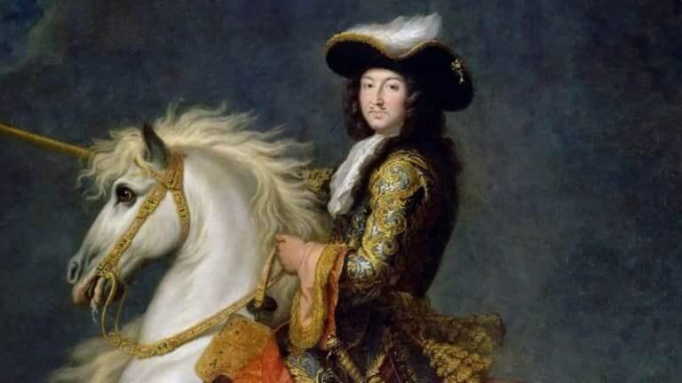 Pintura do rei Luís XIV