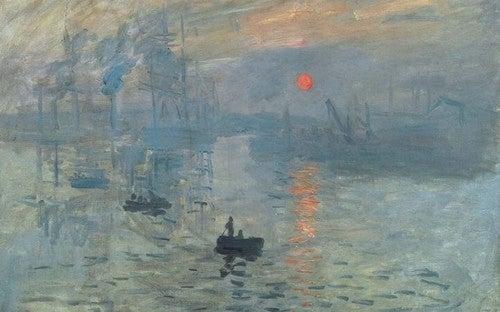O trabalho do jovem Monet