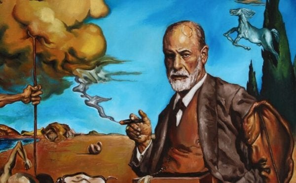 Pintura de Sigmund Freud