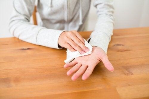 Hiperidrose nas mãos