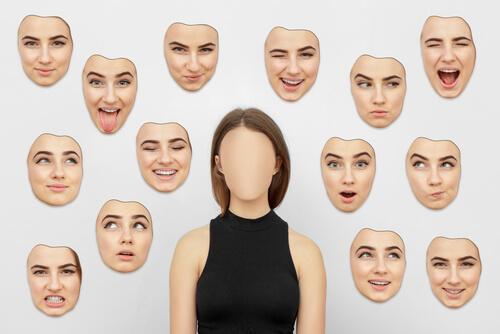 Expressões faciais representando emoções